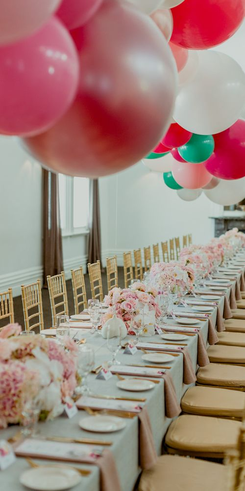 table garland pink L